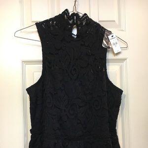 Express Black Lace Blouse